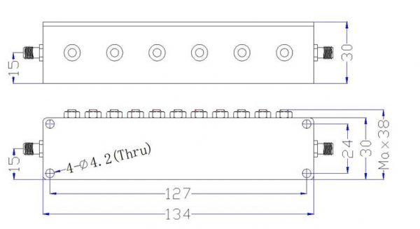 Bandpass Filter From 1.9GHz To 2.0GHz With SMA-Female Connectors