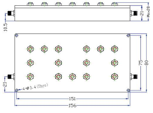 Bandpass Filter From 2.32GHz To 2.37GHz With SMA-Female Connectors
