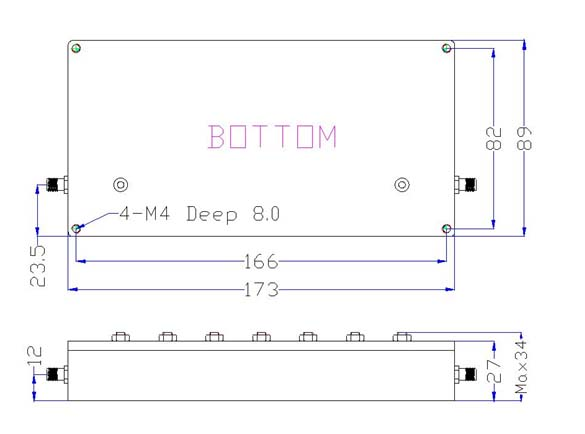 Bandpass Filter From 2.427GHz To 2.447GHz With SMA-Female Connectors