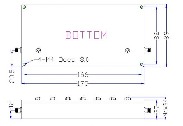 Bandpass Filter From 2.452GHz To 2.472GHz With SMA-Female Connectors