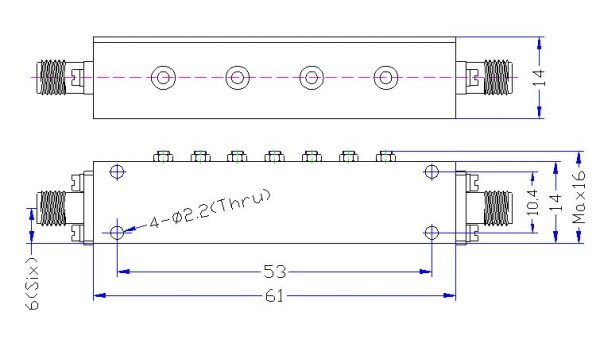 Bandpass Filter From 4.99GHz To 5.01GHz With SMA-Female Connectors