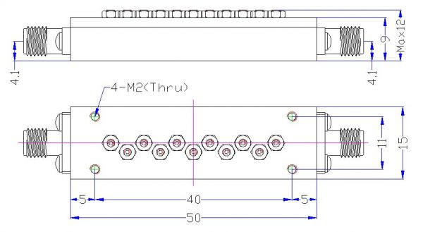 Bandpass Filter From 870MHz To 920MHz With SMA-Female Connectors