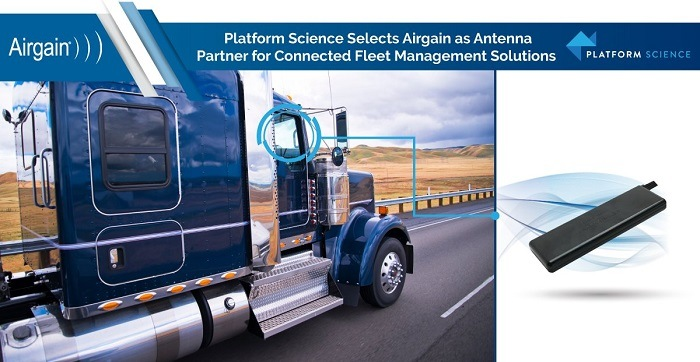Airgain's 4-in-1 Windshield Mount Antenna for Fleets & Public Safety Vehicles