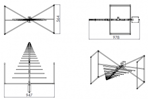 (-28 - 7)dBi Gain, 0.025GHz to 2GHz, Bilogical Antenna  OLP-00220
