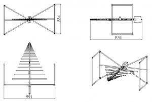 (-27 - 7)dBi Gain, 0.025GHz to 7GHz, Bilogical Antenna  OLP-00270