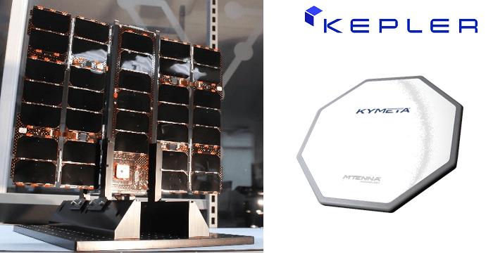 Kepler Demonstrates LEO Satellites Compatibility with Kymeta's Electronically Steered Antenna