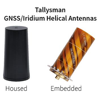 Lightweight Helical GNSS and Iridium Antennas for the UAV Market