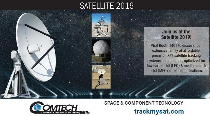 Comtech to Showcase Cost-Effective Solutions for Satellite Tracking at Satellite 2019