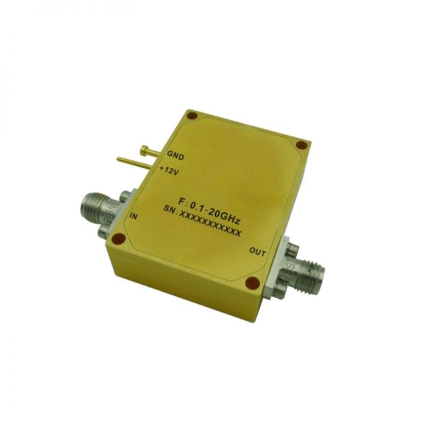 Ultra Wide Band Low Noise Amplifier From 0.1GHz to 20GHz With a Nominal 30dB Gain NF 3.5dB SMA Connectors