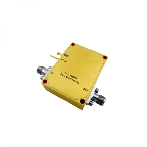 Ultra Wide Band Low Noise Amplifier From 8GHz to 11GHz With a Nominal 45dB Gain NF 4dB SMA Connectors