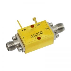 Ultra Wide Band Low Noise Amplifier From 10.7GHz to 11.7GHz With a Nominal 35dB Gain NF 1.6dB SMA Connectors