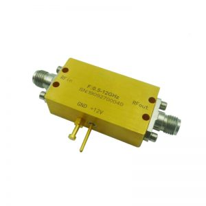 Ultra Wide Band Low Noise Amplifier From 0.5GHz to 12GHz With a Nominal 30dB Gain NF 3dB SMA Connectors