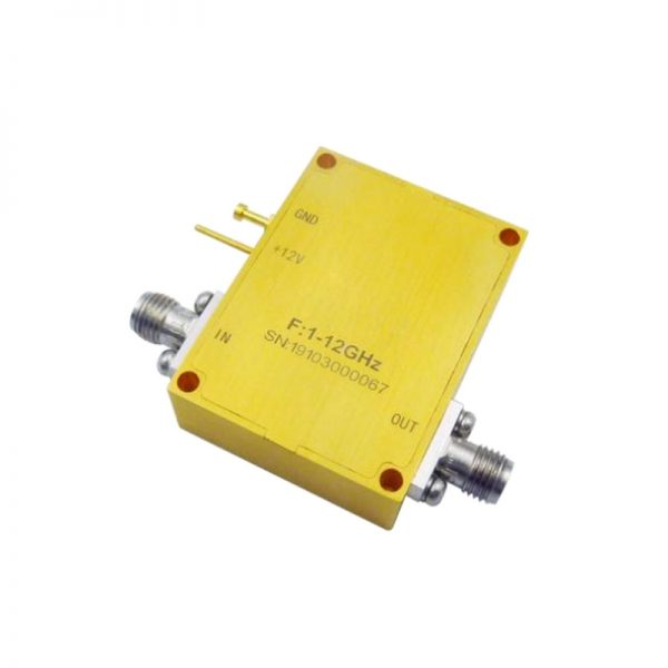 Ultra Wide Band Low Noise Amplifier From 1GHz to 12GHz With a Nominal 34dB Gain NF 2.8dB SMA Connectors