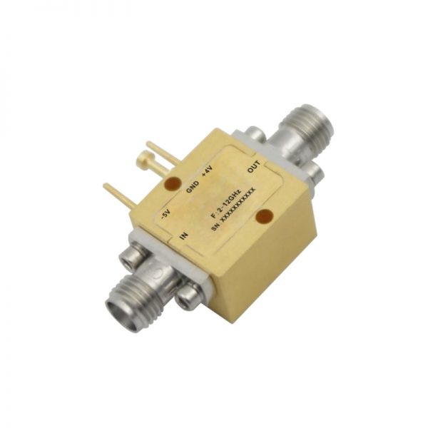 Ultra Wide Band Low Noise Amplifier From 2GHz to 12GHz With a Nominal 15dB Gain NF 2.5dB SMA Connectors