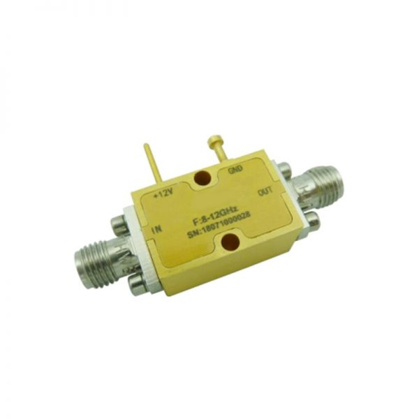 Ultra Wide Band Low Noise Amplifier From 8GHz to 12GHz With a Nominal 32dB Gain NF 2dB SMA Connectors