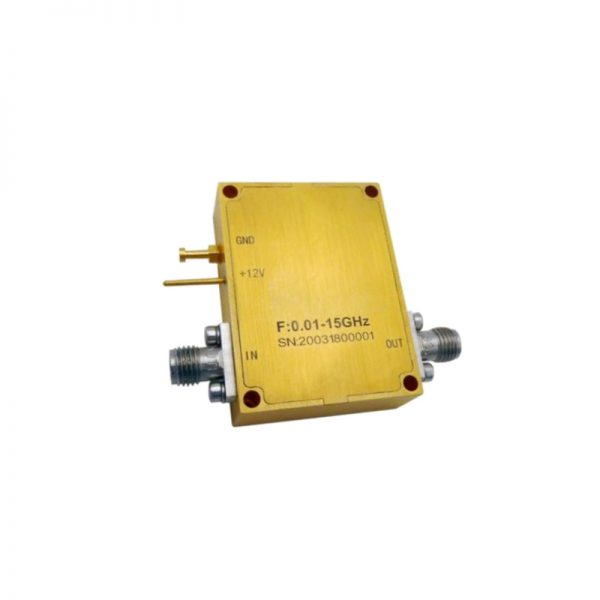 Ultra Wide Band Low Noise Amplifier From 0.01GHz to 15GHz With a Nominal 32dB Gain NF 2.5dB SMA Connectors