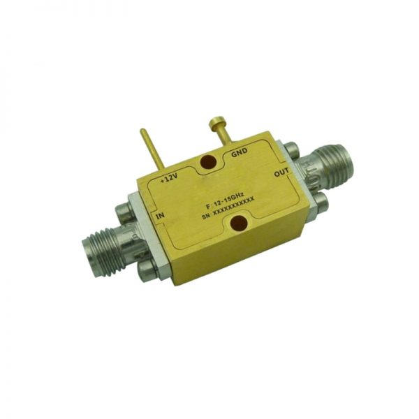 Ultra Wide Band Low Noise Amplifier From 12GHz to 15GHz With a Nominal 32dB Gain NF 1.7dB SMA Connectors