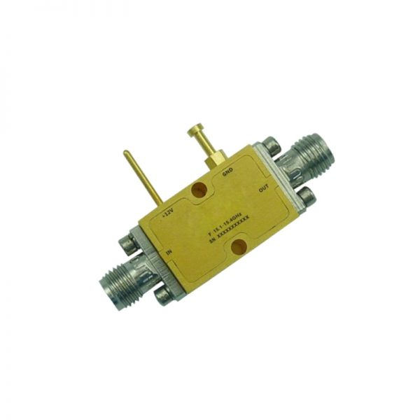 Ultra Wide Band Low Noise Amplifier From 15.1GHz to 15.4GHz With a Nominal 31dB Gain NF 1.8dB SMA Connectors