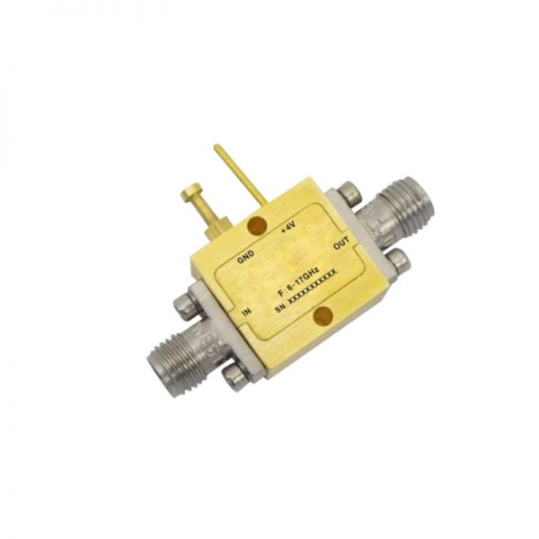 Ultra Wide Band Low Noise Amplifier From 6GHz to 17GHz With a Nominal 19dB Gain NF 2.5dB SMA Connectors