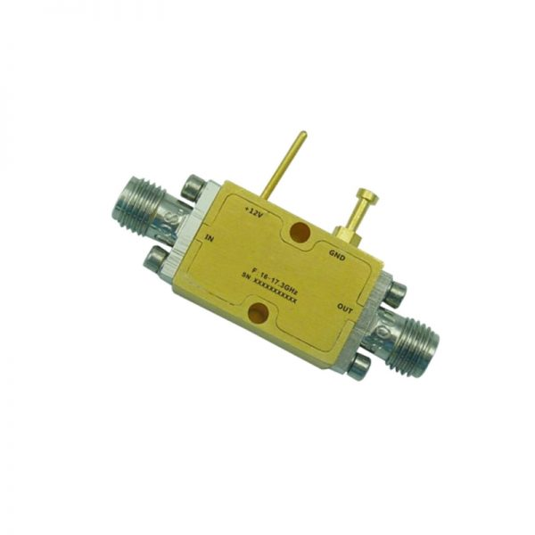 Ultra Wide Band Low Noise Amplifier From 16GHz to 17.3GHz With a Nominal 31dB Gain NF 1.8dB SMA Connectors