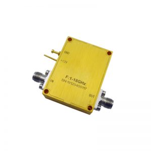 Ultra Wide Band Low Noise Amplifier From 1GHz to 18GHz With a Nominal 27dB Gain NF 2.5dB SMA Connectors