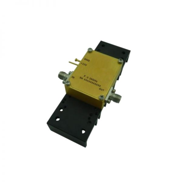 Ultra Wide Band Low Noise Amplifier From 2GHz to 18GHz With a Nominal 29dB Gain NF 4dB SMA Connectors
