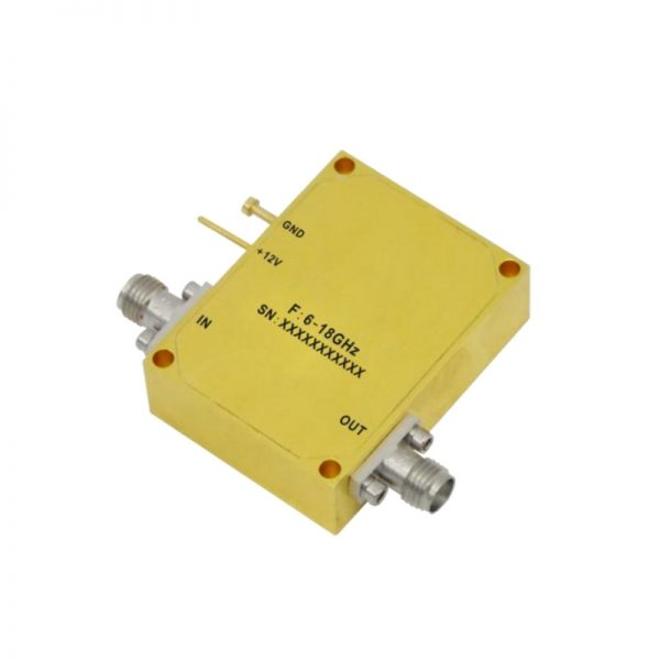 Ultra Wide Band Low Noise Amplifier From 6GHz to 18GHz With a Nominal 34dB Gain NF 2.5dB SMA Connectors