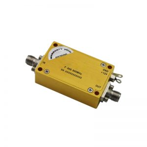 Ultra Wide Band Low Noise Amplifier From 0.8GHz to 0.9GHz With a Nominal 37dB Gain NF 1dB SMA Connectors