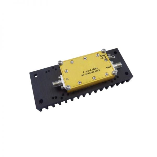 Ultra Wide Band Low Noise Amplifier From 0.8GHz to 2.2GHz With a Nominal 49dB Gain NF 1.5dB SMA Connectors