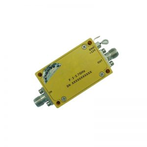 Ultra Wide Band Low Noise Amplifier From 2GHz to 2.7GHz With a Nominal 45dB Gain NF 1.3dB SMA Connectors