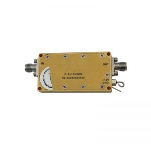 Ultra Wide Band Low Noise Amplifier From 4.2GHz to 5.2GHz With a Nominal 34dB Gain NF 1.2dB SMA Connectors