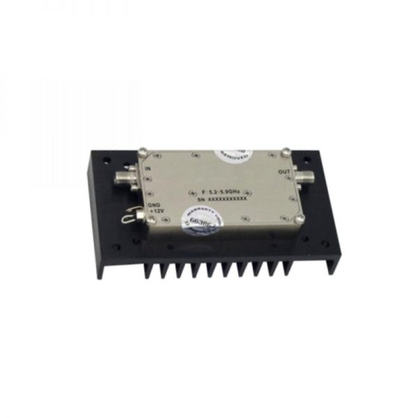 Ultra Wide Band Low Noise Amplifier From 5.2GHz to 5.9GHz With a Nominal 32dB Gain NF 1.5dB SMA Connectors