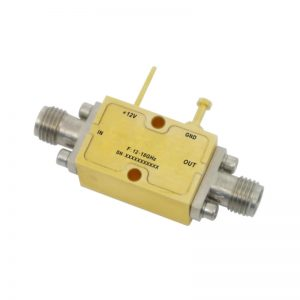Ultra Wide Band Low Noise Amplifier From 12GHz to 18GHz With a Nominal 31dB Gain NF 2.3dB SMA Connectors