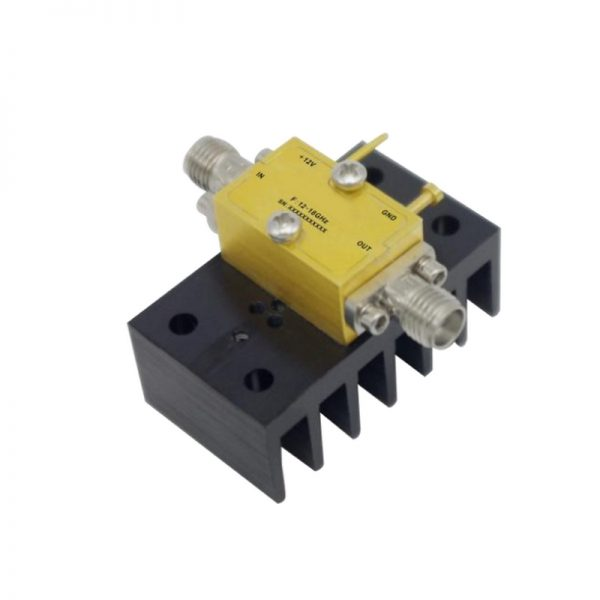 Ultra Wide Band Low Noise Amplifier From 12GHz to 18GHz With a Nominal 31dB Gain NF 2dB SMA Connectors