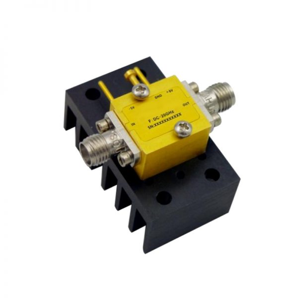 Ultra Wide Band Low Noise Amplifier From 0.01GHz to 20GHz With a Nominal 13dB Gain NF 2.5dB SMA Connectors