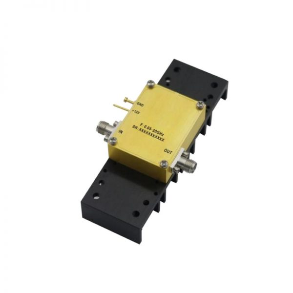 Ultra Wide Band Low Noise Amplifier From 0.05GHz to 20GHz With a Nominal 28dB Gain NF 1.8dB SMA Connectors