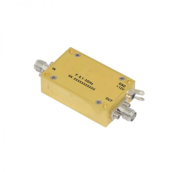Ultra Wide Band Low Noise Amplifier From 0.1GHz to 3GHz With a Nominal 35dB Gain NF 2.5dB SMA Connectors