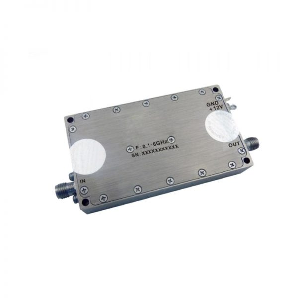 Ultra Wide Band Low Noise Amplifier From 0.1GHz to 6GHz With a Nominal 35dB Gain NF 3.5dB SMA Connectors