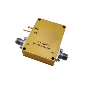 Ultra Wide Band Low Noise Amplifier From 1GHz to 12GHz With a Nominal 35dB Gain NF 2dB SMA Connectors