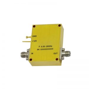 Ultra Wide Band Low Noise Amplifier From 0.05GHz to 20GHz With a Nominal 28dB Gain NF 2dB SMA Connectors