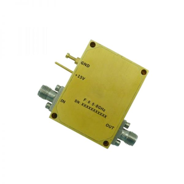 Ultra Wide Band Low Noise Amplifier From 0.5GHz to 8GHz With a Nominal 35dB Gain NF 1.8dB SMA Connectors