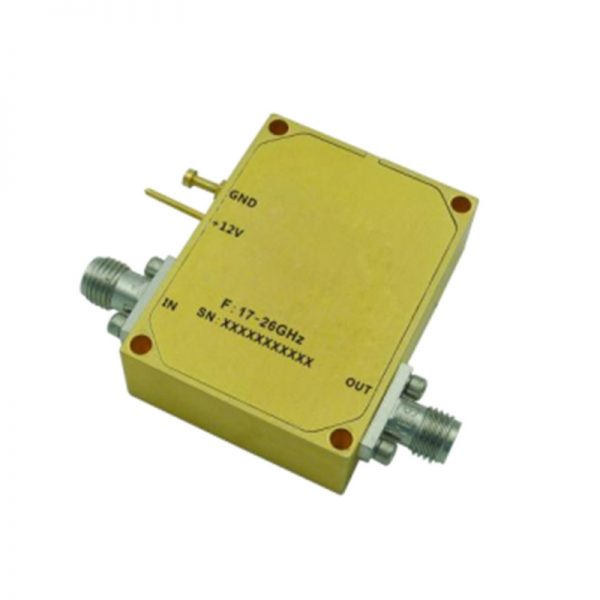 Ultra Wide Band Low Noise Amplifier From 18GHz to 20.9GHz With a Nominal 34dB Gain NF 2.7dB SMA Connectors