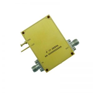 Ultra Wide Band Low Noise Amplifier From 17GHz to 26GHz With a Nominal 55dB Gain NF 2.2dB 2.92mm Connectors
