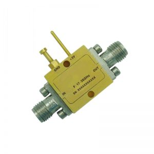 Ultra Wide Band Low Noise Amplifier From 17GHz to 26GHz With a Nominal 18dB Gain NF 2.4dB 2.92mm Connectors