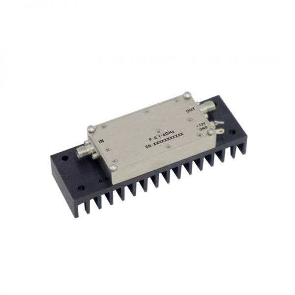 Ultra Wide Band Low Noise Amplifier From 0.1GHz to 4GHz With a Nominal 38dB Gain NF 2.2dB SMA Connectors