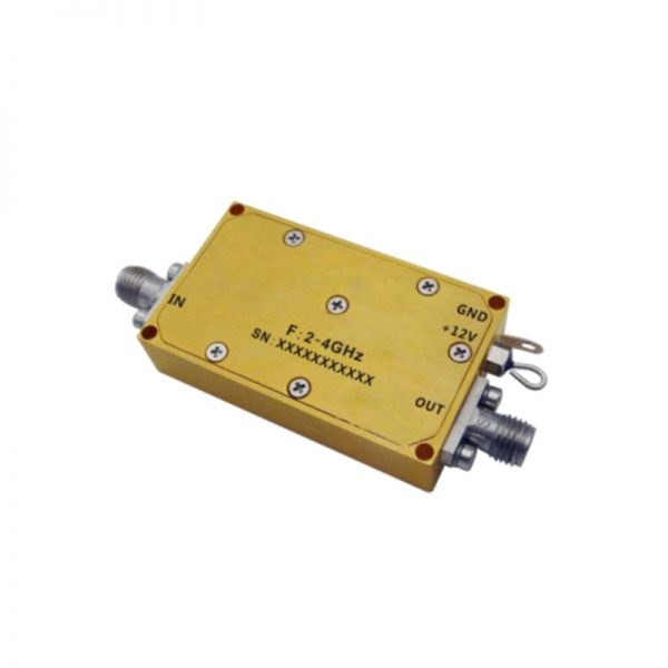 Ultra Wide Band Low Noise Amplifier From 2GHz to 4GHz With a Nominal 44dB Gain NF 1.8dB SMA Connectors