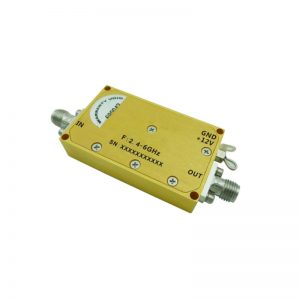 Ultra Wide Band Low Noise Amplifier From 0.5GHz to 6GHz With a Nominal 38dB Gain NF 2.8dB SMA Connectors