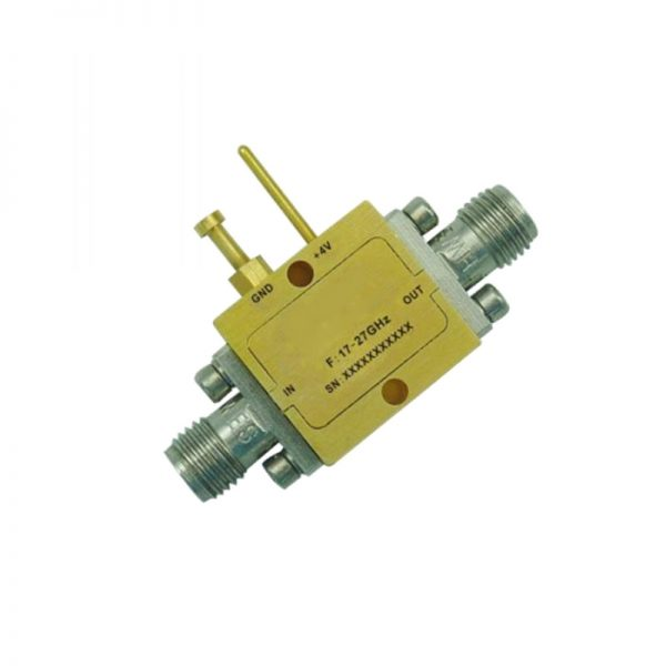 Ultra Wide Band Low Noise Amplifier From 17GHz to 27GHz With a Nominal 25dB Gain NF 2.8dB 2.92mm Connectors