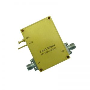 Ultra Wide Band Low Noise Amplifier From 0.01GHz to 30GHz With a Nominal 41dB Gain NF 3.5dB SMA Connectors