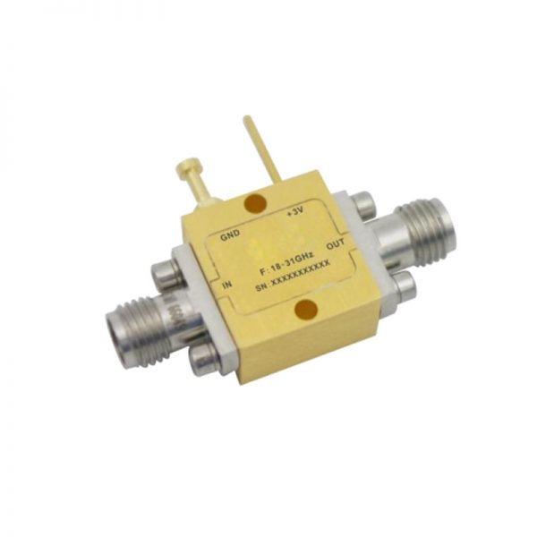 Ultra Wide Band Low Noise Amplifier From 16GHz to 33GHz With a Nominal 12dB Gain NF 2.8dB 2.92mm Connectors